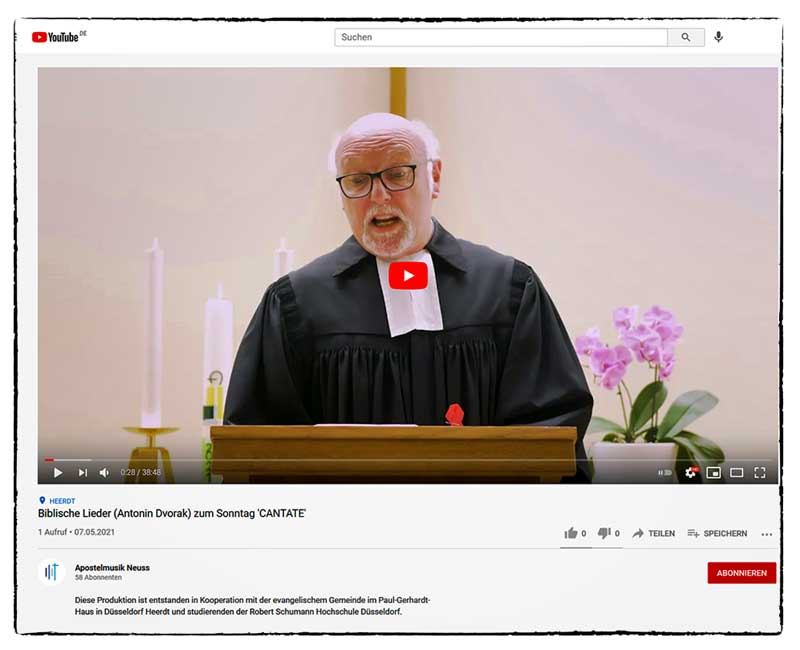 2021 05 Cantate YouTube
